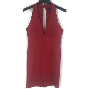 Forever 21 Sexy Red Dress Sz L Juniors